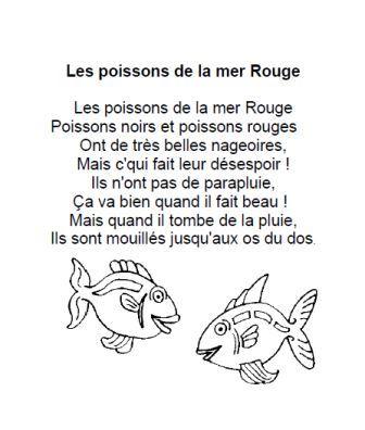 Comptine Les poissons de la mer Rouge