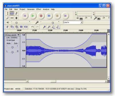 Enregistreur et éditeur audio. Lien vers Audacy.fr