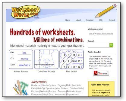 Worksheetworks.com : c'est un générateur de dizaines d'activités (sudoku, puzzles, exercices de maths, carte géographiques, carrés magiques, calendrier....) en anglais !