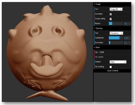Lien vers le logiciel SculptGL pour sculpter une boule en 3D