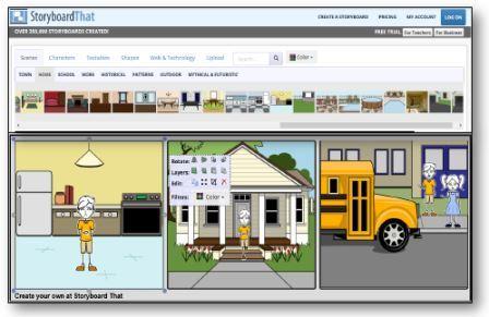Logiciel Storyboard That pour créer ses propres BD