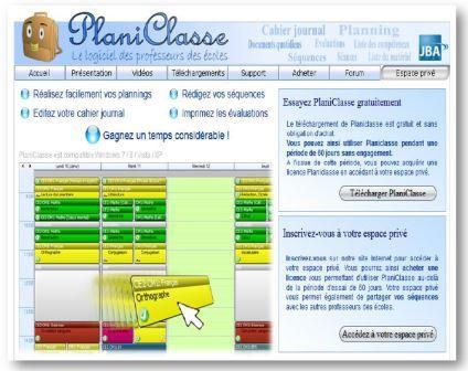 Lien vers le logiciel pour préparer la classe PlaniClasse