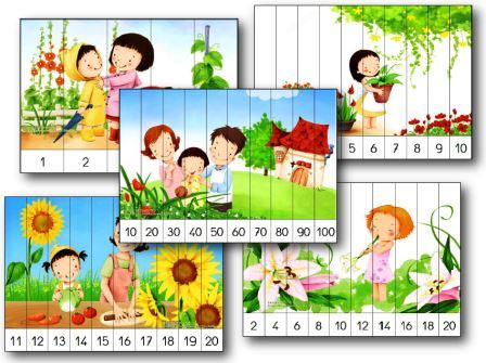 puzzles numriques maternelle imprimer counting number puzzles