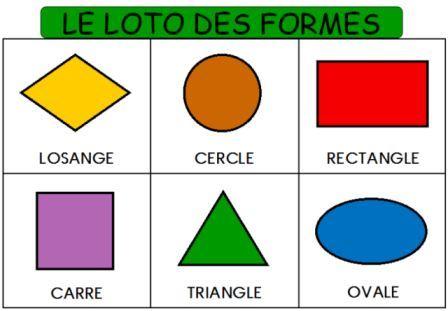 Le loto des formes géométriques et des couleurs
