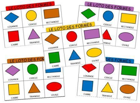 Jeu de loto pour travailler les formes et des couleurs en maternelle