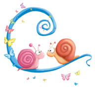 Attache décoration escargots amoureux
