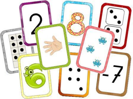 Cartes pour compter avec différentes représentations. Apprendre à compter en maternelle, un jeu d'enfant! Des cartes pour compter gratuites à imprimer qui peuvent remplacer les dés par exemple. carte pour compter. Des cartes pour apprendre à compter en maternelle