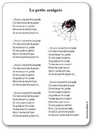 Comptine La petite araignée