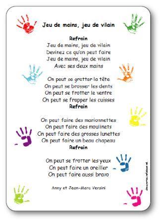 Jeu de mains, jeu de vilains - Maternelle Saint-Martial Classe de ...