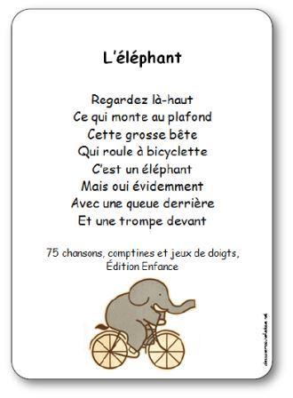 Comptine gestes l 39 l phant paroles illustr es l - Petit escargot porte sur son dos paroles ...