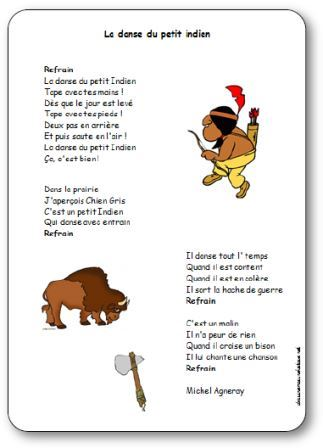 Häufig Chanson La danse du petit indien de Michel Agneray - Paroles  HT07