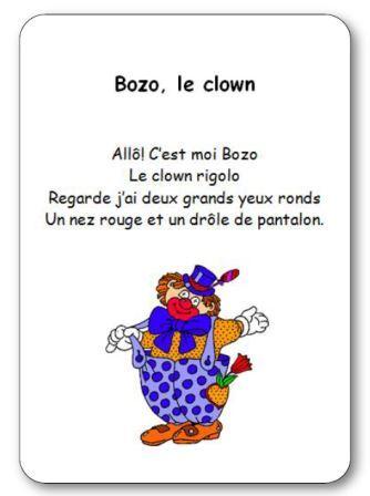Comptine sur le thème du cirque, Bozo le clown