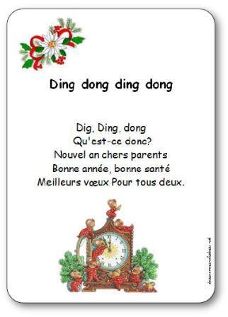 Comptine Ding Dong Paroles Illustrées Ding Dong à Imprimer