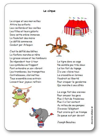 Comptine Le cirque