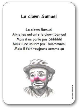 Comptine Le clown Samuel