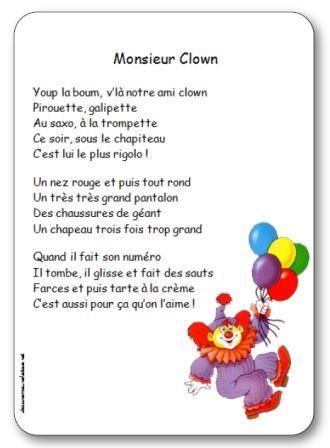 Comptine Monsieur Clown