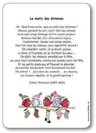 Poésie Le Matin Des étrennes Darthur Rimbaud Poésie Illustrée
