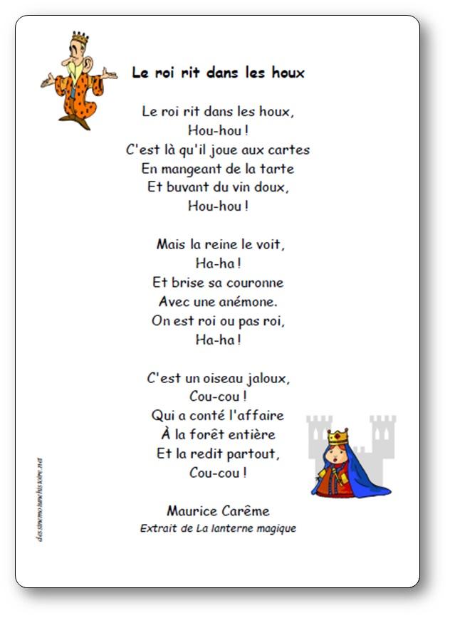 Poésie Le Roi Rit Dans Les Houx De Maurice Carême Poésie