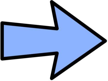 Attache flèche bleue