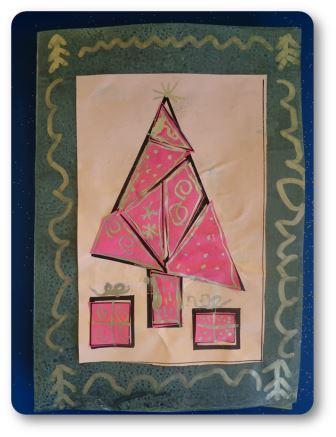 Carte de Noël collage