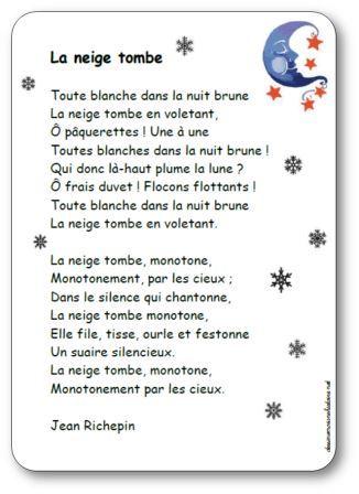 Poésie La neige tombe Jean Richepin