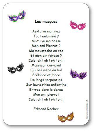 Poésie Les masques Edmond Rocher