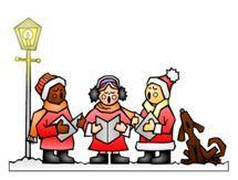 image d'enfants chantant des chants de Noël