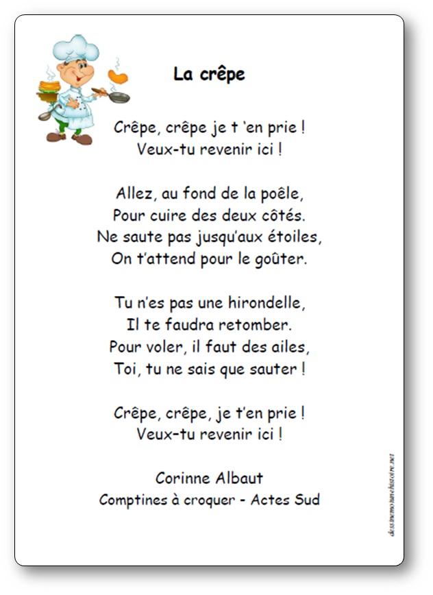 Comptine La crêpe de Corinne Albaut