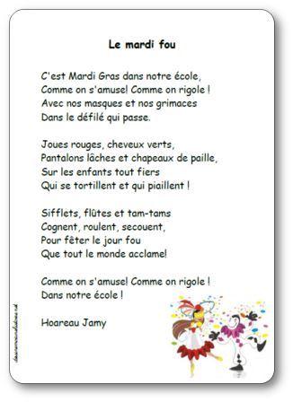 Poésie Le mardi fou Hoareau Jamy, mardi fou jamy