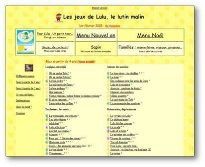 Activités en ligne Les jeux de Lulu