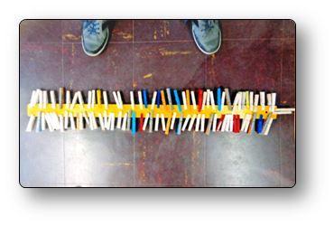Atelier pince à linge Pincer la règle de la classe