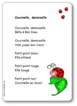 Comptine Coccinelle demoiselle