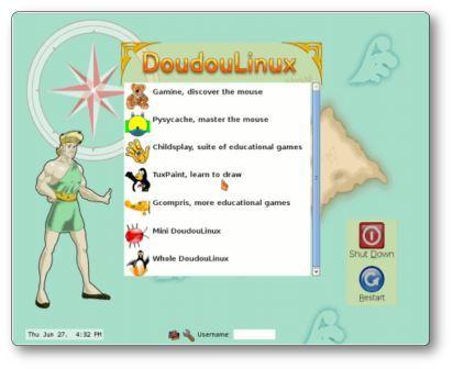 Logiciel éducatif Doudoulinux