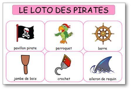Loto des pirates à imprimer