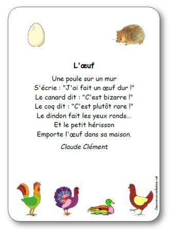 Comptine L'œuf de Claude Clément, comptine l oeuf