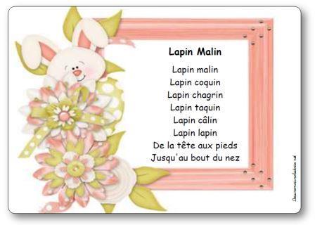 Comptine Lapin Malin