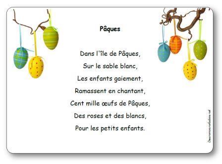 Comptine Pâques, Comptine illustrée Pâques