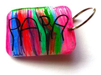 Cadeau pour la fête des pères Un porte-clés avec du plastique dingue, plastique fou porte clé,