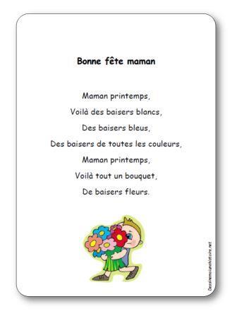 poésie Bonne fête maman Maman printemps