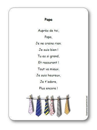 Comptine fête des pères Papa, Comptine Papa