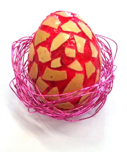 Bricolage de Pâques : décorer un œuf en polystyrène, Bricolage Pâques