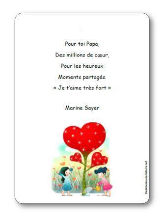 Poésie Pour toi Papa de Marine Sayer