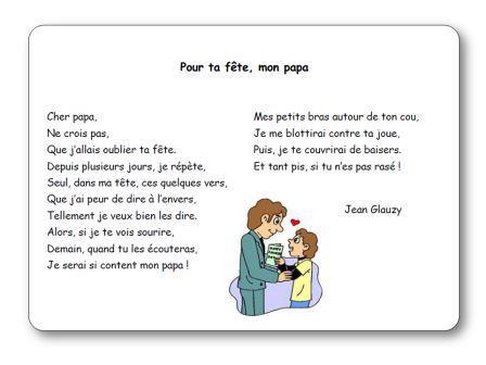 Pour ta fête mon papa de Jean Glauzy, Pour ta fete mon papa