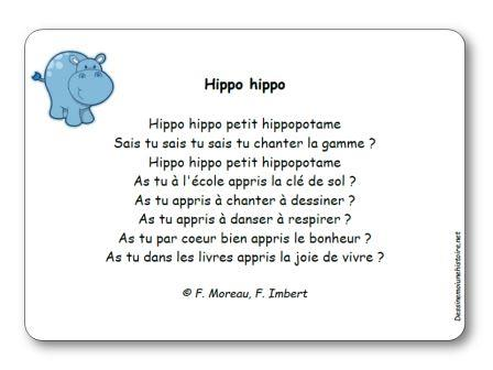 Comptine Hippo hippo