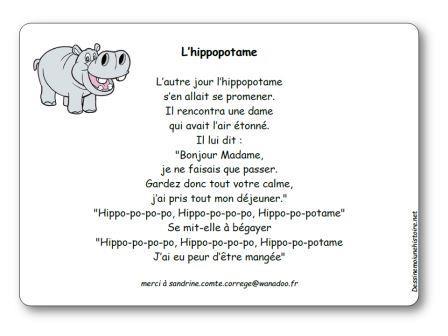 Comptine L Hippopotame