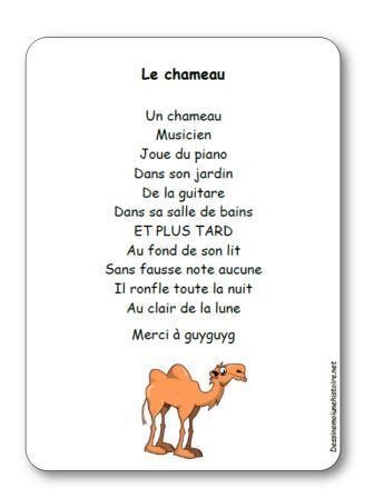 Comptine Le chameau