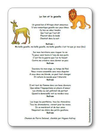 chanson le lion et la gazelle