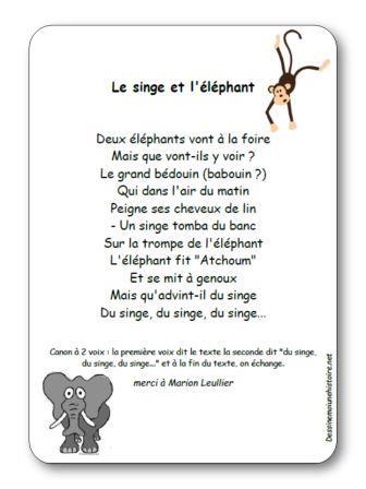 Comptine Le singe et l éléphant