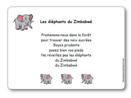 Comptine Les éléphants du Zimbabwé