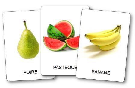 Imagier des fruits à imprimer, imagier fruits légumes